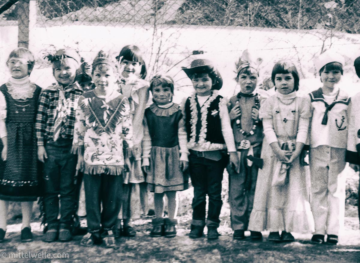 Kindergarten Kinderfasching in der DDR