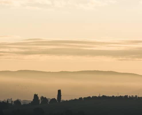 Sonnenaufgang in der Toskana